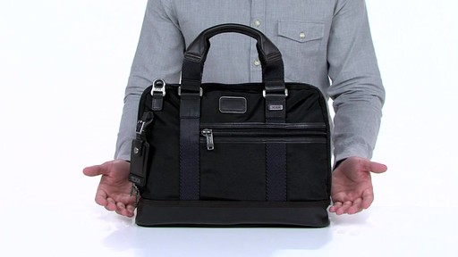 Tumi Alpha Bravo Earle Compact Brief - image 2 from the video