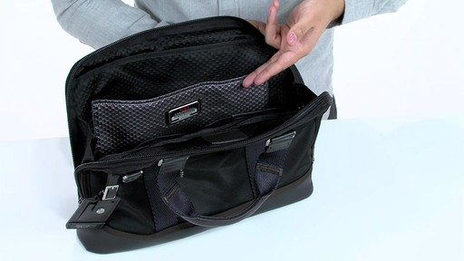 Tumi Alpha Bravo Earle Compact Brief - image 6 from the video