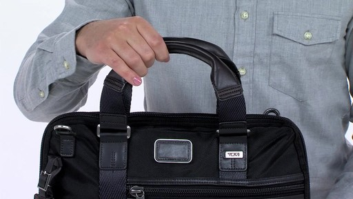Tumi Alpha Bravo Earle Compact Brief - image 8 from the video