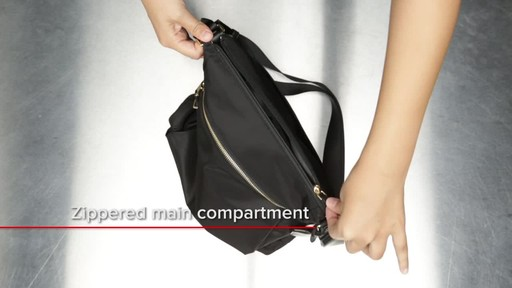 Tumi Voyageur Canton Leather Crossbody - image 7 from the video