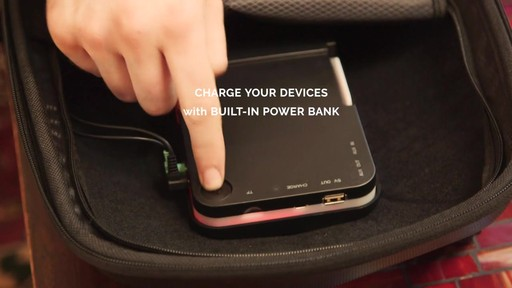 TRAKK Shell Weatherproof Bluetooth Speaker & Power Charging Backpack - image 4 from the video