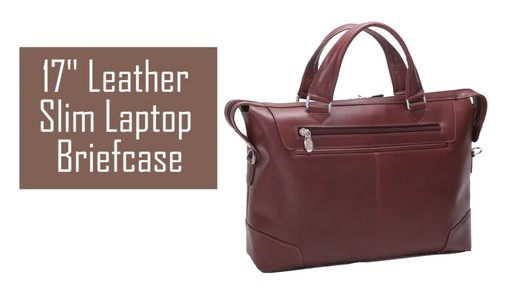 McKlein USA Arcadia Slim Laptop Briefcase - image 2 from the video