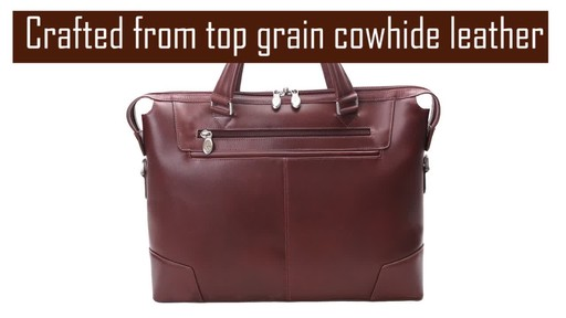 McKlein USA Arcadia Slim Laptop Briefcase - image 3 from the video
