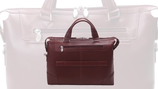McKlein USA Arcadia Slim Laptop Briefcase - image 4 from the video