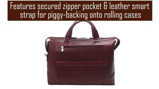 McKlein USA Arcadia Slim Laptop Briefcase - image 5 from the video