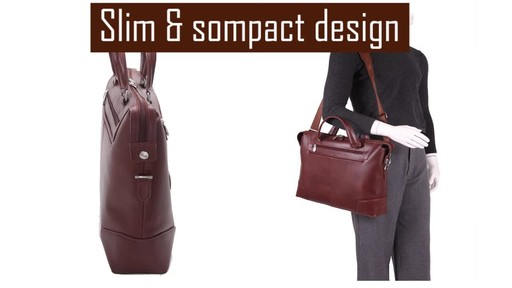 McKlein USA Arcadia Slim Laptop Briefcase - image 6 from the video