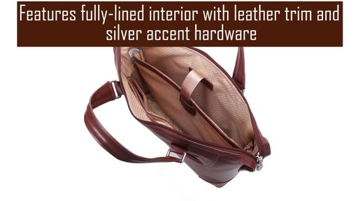 McKlein USA Arcadia Slim Laptop Briefcase - image 7 from the video