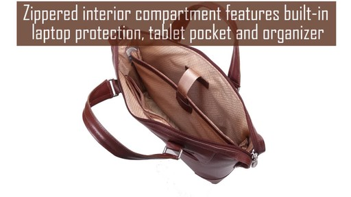 McKlein USA Arcadia Slim Laptop Briefcase - image 8 from the video