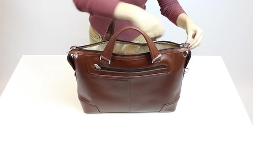 McKlein USA Arcadia Slim Laptop Briefcase - image 9 from the video