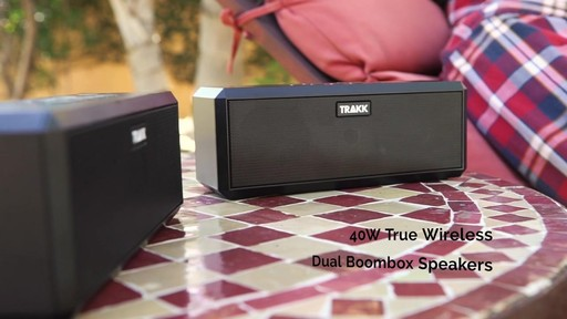 Trakk Duo 40w True Wireless Technology Dual Boombox Speakers - image 10 from the video