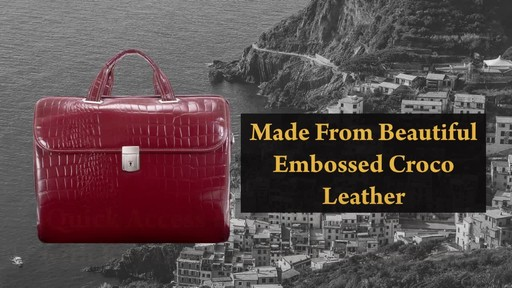 Siamod Monterosso Collection Settembre Ladies Laptop Brief - image 4 from the video