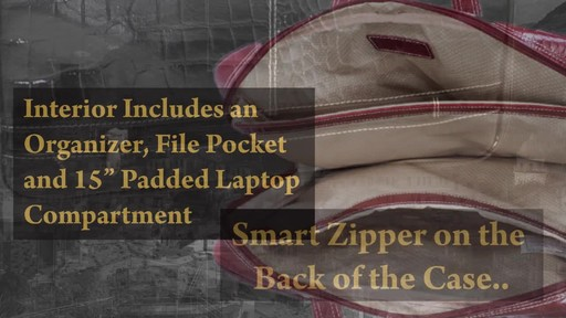 Siamod Monterosso Collection Settembre Ladies Laptop Brief - image 6 from the video