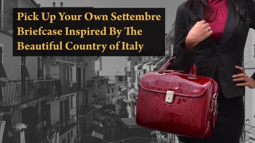 Siamod Monterosso Collection Settembre Ladies Laptop Brief - image 9 from the video
