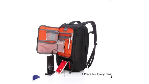 How to Stay Organized While Traveling with eBags Professional Slim Jr Laptop Backpack - image 4 from the video