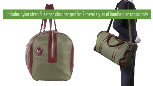 McKlein USA Pasadena Travel Duffel - image 5 from the video