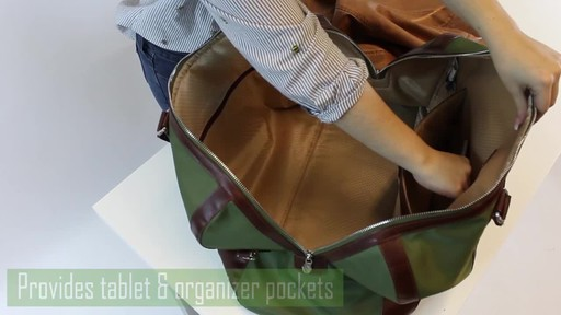 McKlein USA Pasadena Travel Duffel - image 8 from the video