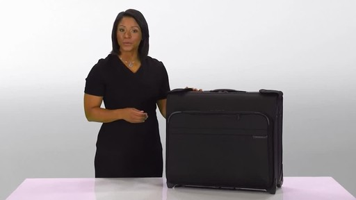 Briggs & Riley Baseline Deluxe Wheeled Garment Bag - image 10 from the video