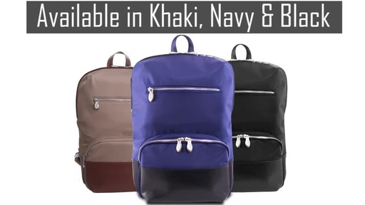 McKlein USA Brooklyn Laptop Backpack - image 10 from the video