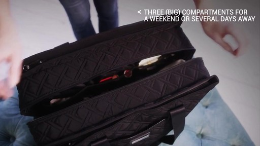 Vera Bradley Triple Compartment Travel Bag  - image 3 from the video