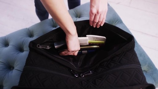 Vera Bradley Triple Compartment Travel Bag  - image 5 from the video