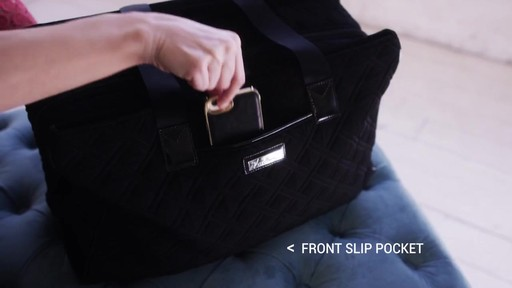 Vera Bradley Triple Compartment Travel Bag  - image 8 from the video