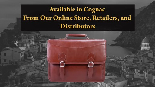 Siamod Manarola Collection Belvedere Double Compartment Laptop Case - image 10 from the video