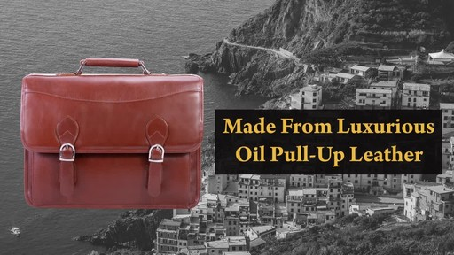 Siamod Manarola Collection Belvedere Double Compartment Laptop Case - image 3 from the video
