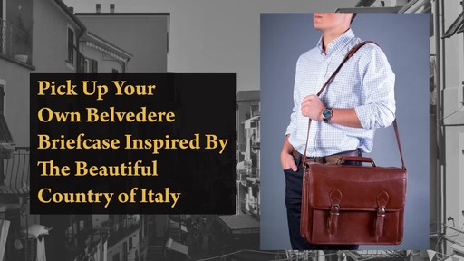 Siamod Manarola Collection Belvedere Double Compartment Laptop Case - image 9 from the video