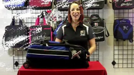 KR Strikeforce Bowling Royal Flush Slim Triple Bowling Ball Roller Bag - eBags.com - image 1 from the video