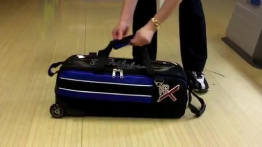 KR Strikeforce Bowling Royal Flush Slim Triple Bowling Ball Roller Bag - eBags.com - image 4 from the video