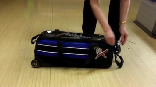 KR Strikeforce Bowling Royal Flush Slim Triple Bowling Ball Roller Bag - eBags.com - image 5 from the video