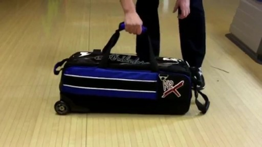 KR Strikeforce Bowling Royal Flush Slim Triple Bowling Ball Roller Bag - eBags.com - image 6 from the video