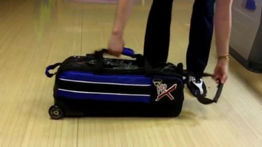 KR Strikeforce Bowling Royal Flush Slim Triple Bowling Ball Roller Bag - eBags.com - image 7 from the video