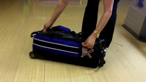 KR Strikeforce Bowling Royal Flush Slim Triple Bowling Ball Roller Bag - eBags.com - image 8 from the video