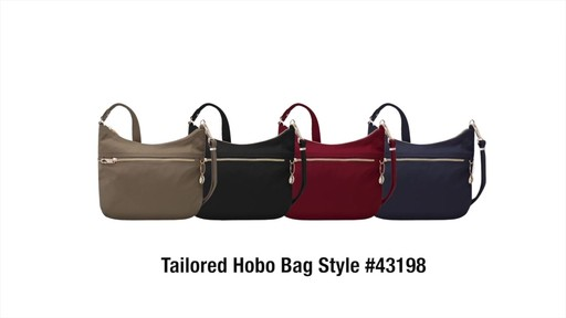 Travelon Anti-Theft Tailored Hobo Bag - image 10 from the video