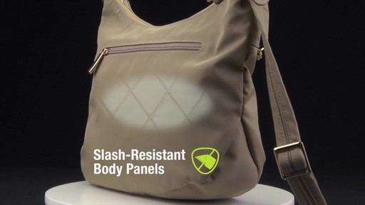 Travelon Anti-Theft Tailored Hobo Bag - image 6 from the video