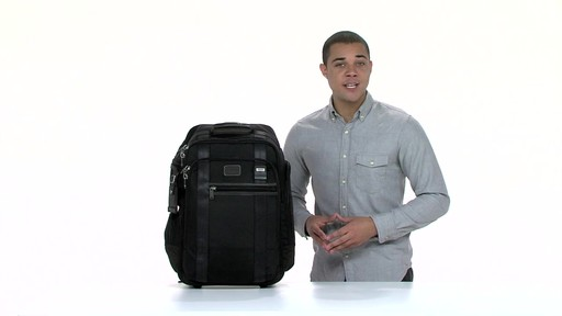 Tumi Alpha Bravo Peterson Wheeled Backpack - eBags.com - image 3 from the video