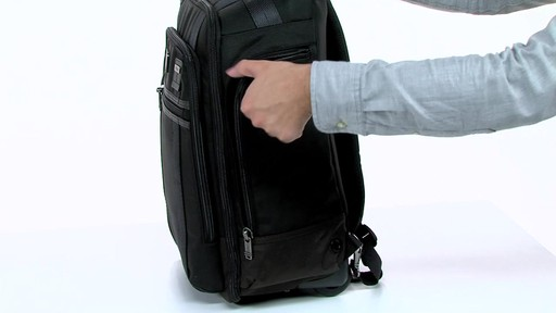 Tumi Alpha Bravo Peterson Wheeled Backpack - eBags.com - image 6 from the video