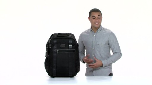 Tumi Alpha Bravo Peterson Wheeled Backpack - eBags.com - image 8 from the video