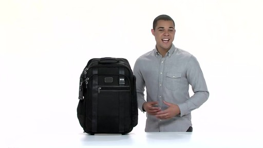 Tumi Alpha Bravo Peterson Wheeled Backpack - eBags.com - image 9 from the video