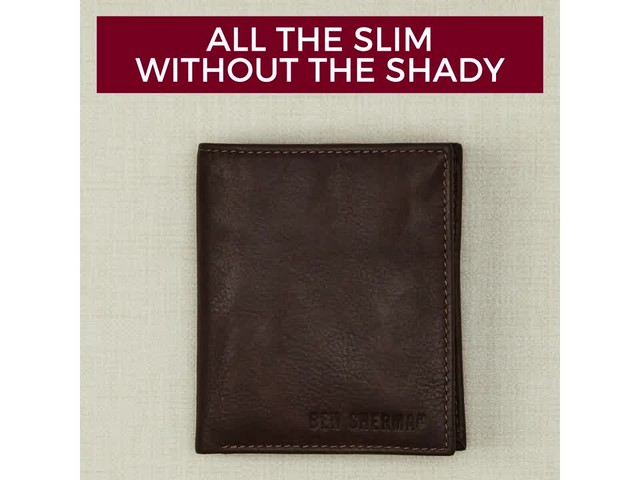 Ben Sherman Luggage Hendon Slim RFID Leather Bifold Wallet - eBags Exclusive - image 10 from the video