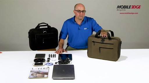 Mobile Edge Canvas ECO Briefcase - image 4 from the video
