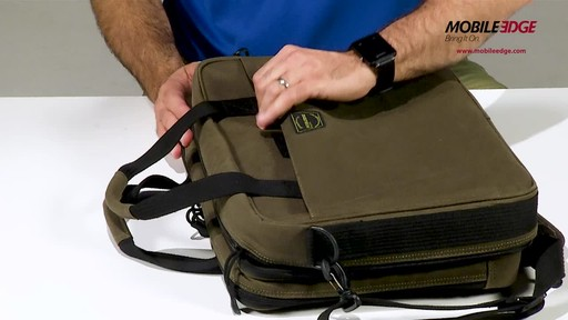 Mobile Edge Canvas ECO Briefcase - image 7 from the video