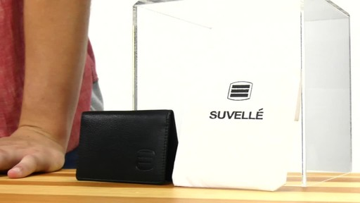 Suvelle Mens Thin RFID Slim Leather Card Holder Wallet - image 2 from the video