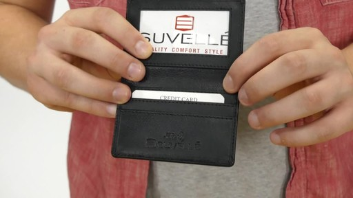 Suvelle Mens Thin RFID Slim Leather Card Holder Wallet - image 6 from the video