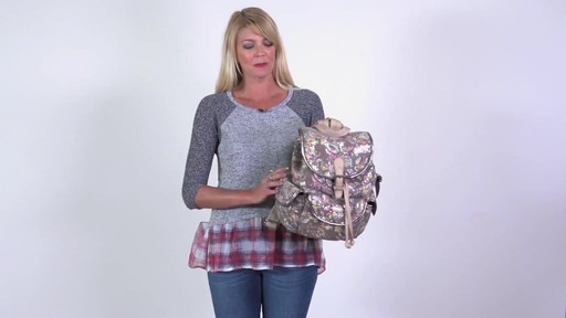 Sakroots Artist Circle Flap Backpack - image 2 from the video