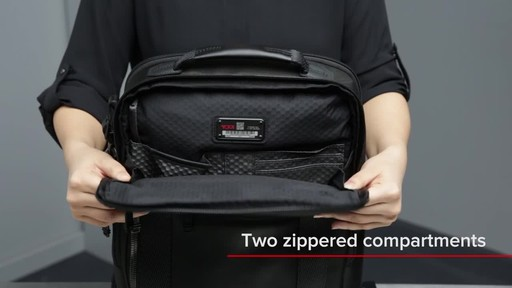 Tumi Alpha Bravo Davis Laptop Backpack - image 6 from the video