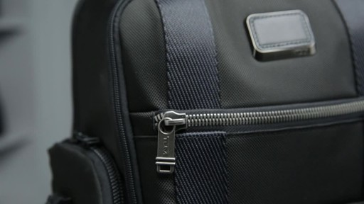 Tumi Alpha Bravo Sheppard Deluxe Laptop Brief Pack - image 10 from the video