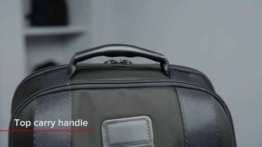 Tumi Alpha Bravo Sheppard Deluxe Laptop Brief Pack - image 3 from the video