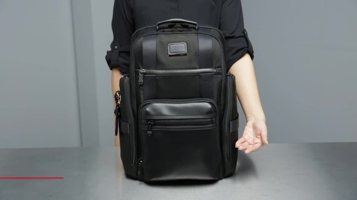 Tumi Alpha Bravo Sheppard Deluxe Laptop Brief Pack - image 4 from the video